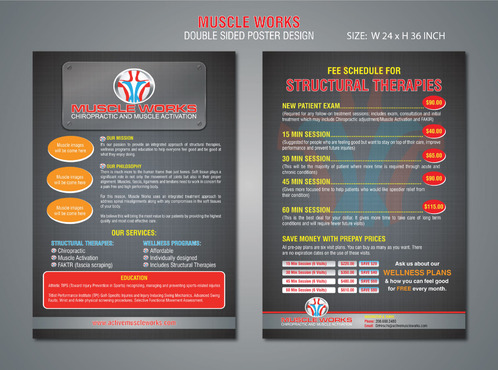 Muscle Works Poster Other  Draft # 24 by Naqshbd