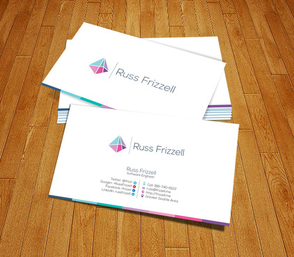 Russ Frizzell Business Cards and Stationery  Draft # 168 by PerfectDesigning