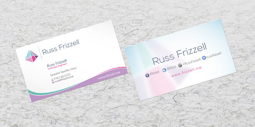 Russ Frizzell Business Cards and Stationery  Draft # 208 by sevensky