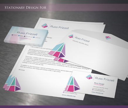 Russ Frizzell Business Cards and Stationery  Draft # 211 by sevensky