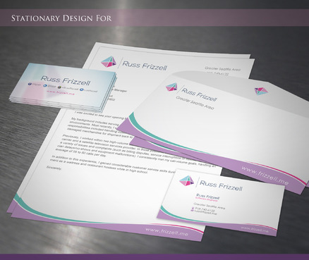 Russ Frizzell Business Cards and Stationery  Draft # 212 by sevensky