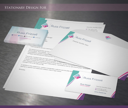 Russ Frizzell Business Cards and Stationery  Draft # 213 by sevensky