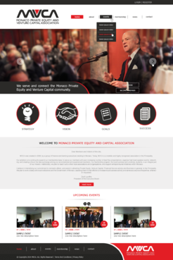 Monaco Private Equity & Venture Capital Association  Web Design  Draft # 94 by xclusivedesigns