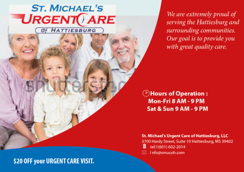 St. Michaels Urgentcare Post card Marketing collateral  Draft # 5 by musammim97