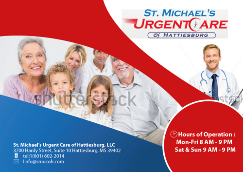 St. Michaels Urgentcare Post card Marketing collateral  Draft # 6 by musammim97