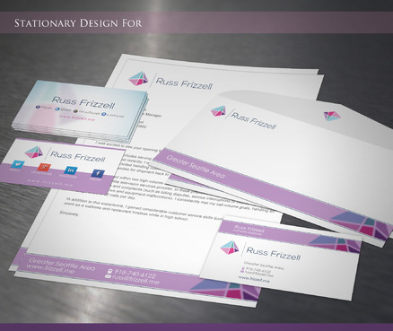 Russ Frizzell Business Cards and Stationery  Draft # 218 by sevensky
