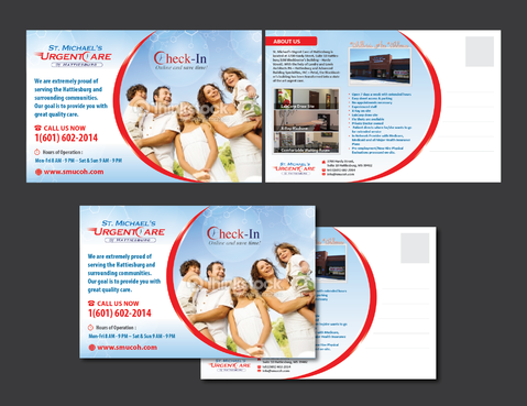 St. Michaels Urgentcare Post card Marketing collateral Winning Design by Achiver