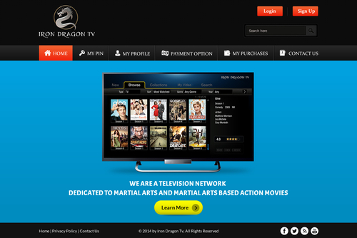 Martial Arts Television Network Complete Web Design Solution  Draft # 26 by SteveJobs