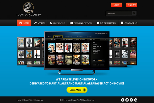 Martial Arts Television Network Complete Web Design Solution  Draft # 27 by SteveJobs