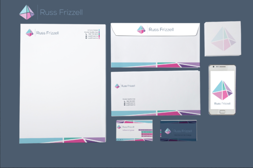 Russ Frizzell Business Cards and Stationery  Draft # 348 by ArtisticEffect15