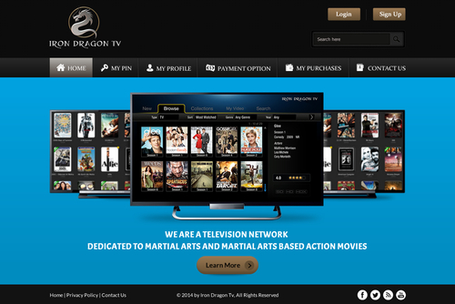 Martial Arts Television Network Complete Web Design Solution  Draft # 54 by SteveJobs