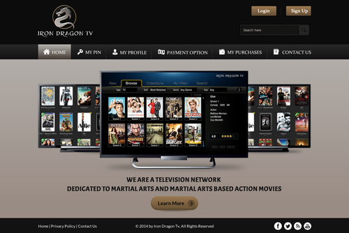 Martial Arts Television Network Complete Web Design Solution  Draft # 55 by SteveJobs