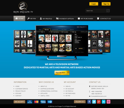 Martial Arts Television Network Complete Web Design Solution  Draft # 57 by SteveJobs