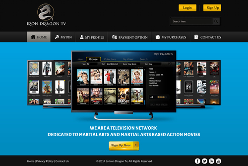 Martial Arts Television Network Complete Web Design Solution  Draft # 58 by SteveJobs