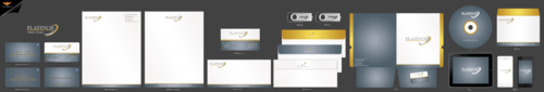 PLATINUM TRANSPORTERS Business Cards and Stationery Winning Design by einsanimation