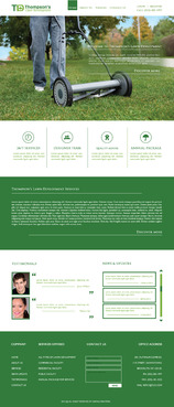 Thompson's Lawn Development Complete Web Design Solution  Draft # 51 by nirmalcreation