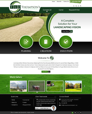 Thompson's Lawn Development Complete Web Design Solution Winning Design by jogdesigner