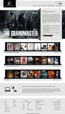 Martial Arts Television Network Complete Web Design Solution  Draft # 80 by nirmalcreation