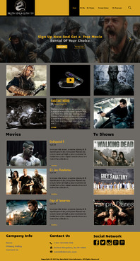 Martial Arts Television Network Complete Web Design Solution  Draft # 89 by hasan110