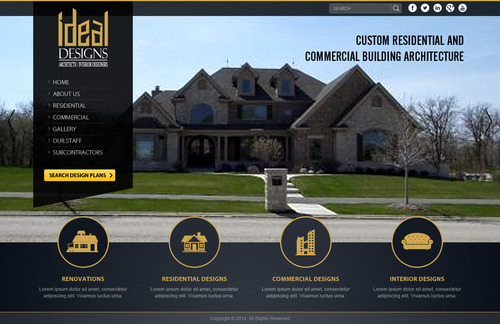 Complete website for a custom residential and commercial building architect firm. No logo required.