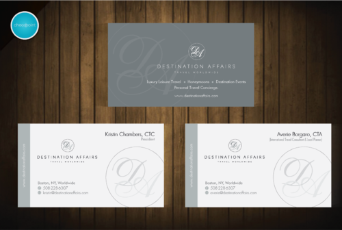 Destination Affairs, Inc. - Travel Worldwide Business Cards and Stationery  Draft # 119 by aheadpoint