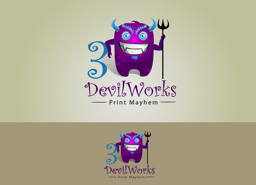 3DevilWorks A Logo, Monogram, or Icon  Draft # 14 by OSSDesign