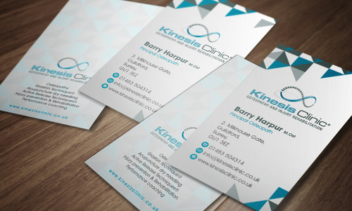 Portrait business card design for modern osteopath clinic by osteodud portrait kinesis clinic business card design business cards and stationery draft 328 by achiver colourmoves