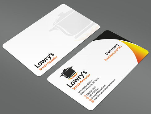 Lowry's Scorch Preventer Business Cards and Stationery  Draft # 28 by ArtworksKingdom