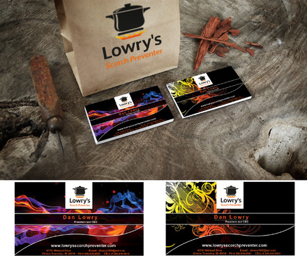 Lowry's Scorch Preventer Business Cards and Stationery  Draft # 154 by adizzz