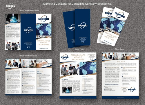 Sopedu, Inc. Marketing collateral Winning Design by syukurkurnia