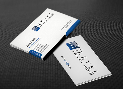 Level Financial Partners Business Cards and Stationery  Draft # 136 by mamun313