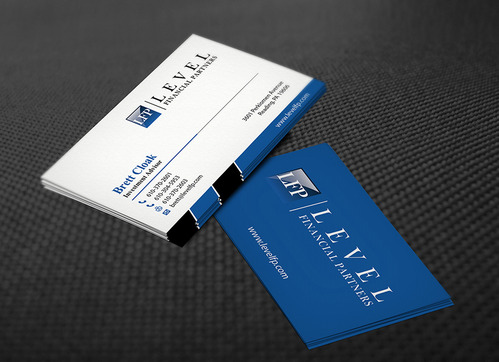 Level Financial Partners Business Cards and Stationery  Draft # 137 by mamun313