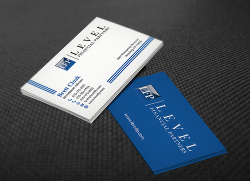 Level Financial Partners Business Cards and Stationery  Draft # 139 by mamun313