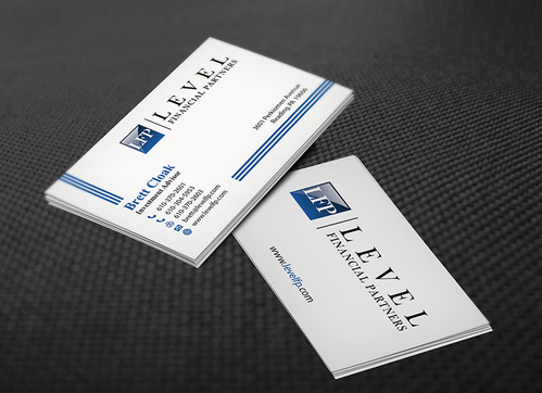 Level Financial Partners Business Cards and Stationery  Draft # 140 by mamun313