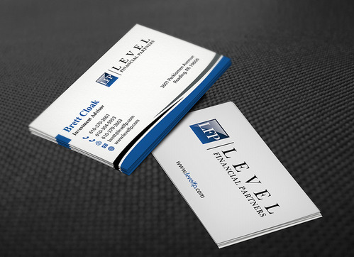 Level Financial Partners Business Cards and Stationery  Draft # 141 by mamun313