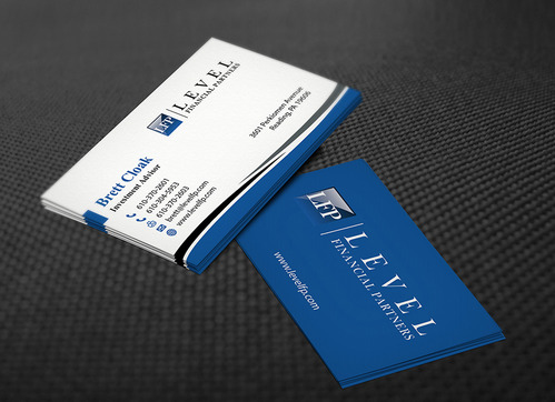 Level Financial Partners Business Cards and Stationery  Draft # 142 by mamun313