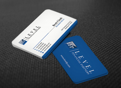 Level Financial Partners Business Cards and Stationery  Draft # 146 by mamun313