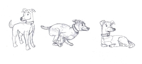 drawing of Italian Greyhound dog in different positions Other  Draft # 2 by FabioPiscicelli