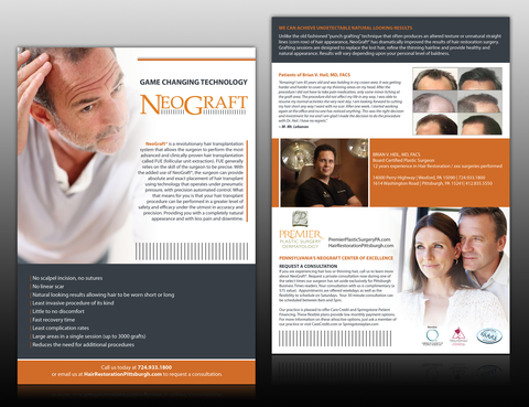 Premier Plastic Surgery & Dermatology Marketing collateral  Draft # 1 by monski