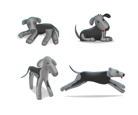 drawing of Italian Greyhound dog in different positions Other  Draft # 21 by DesignSky14