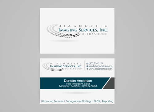 Diagnostic Imaging Services, Inc. Business Cards and Stationery  Draft # 166 by rudyhs