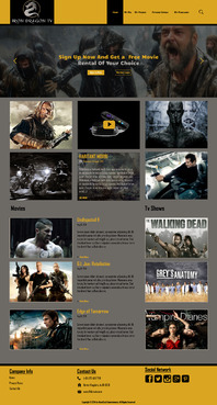 Martial Arts Television Network Complete Web Design Solution  Draft # 90 by hasan110