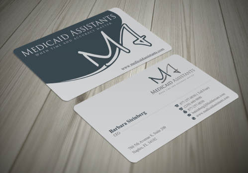 Medicaid Assistants Business Cards and Stationery  Draft # 43 by waterdropdesign