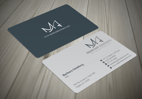 Medicaid Assistants Business Cards and Stationery  Draft # 44 by waterdropdesign