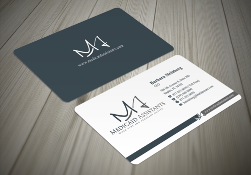 Medicaid Assistants Business Cards and Stationery  Draft # 46 by waterdropdesign