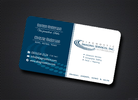 Diagnostic Imaging Services, Inc. Business Cards and Stationery  Draft # 190 by graphicdesinger