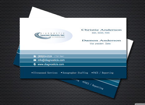 Diagnostic Imaging Services, Inc. Business Cards and Stationery  Draft # 191 by graphicdesinger