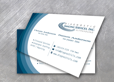 Diagnostic Imaging Services, Inc. Business Cards and Stationery  Draft # 192 by graphicdesinger