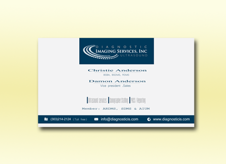 Diagnostic Imaging Services, Inc. Business Cards and Stationery  Draft # 193 by graphicdesinger