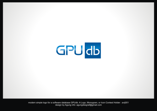 GPUdb  A Logo, Monogram, or Icon  Draft # 204 by agungdesgraf